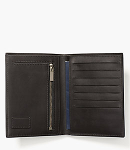 Pebbled Leather Travel Wallet