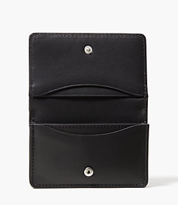 Pebbled Leather Business Card Holder