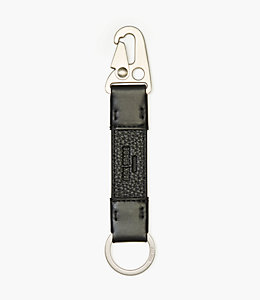 Pebbled Leather Clip Key Fob
