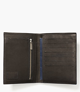 Dipped Leather Travel Wallet