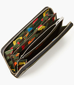 Leather Kaleidoscope Zip Wallet