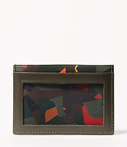 Leather Kaleidoscope ID Wallet