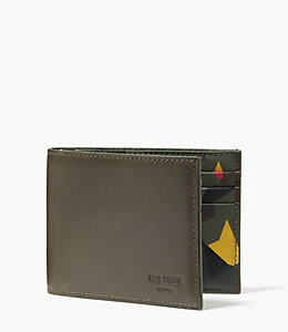 Leather Kaleidoscope Slim Billfold