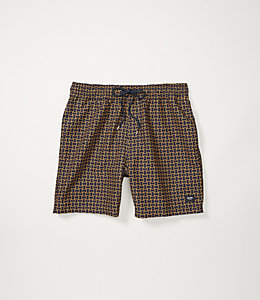 Abstract Tile Swim Trunk