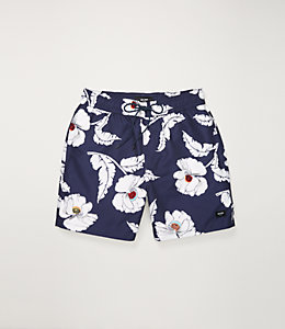 Poppy Floral Swim Trunk