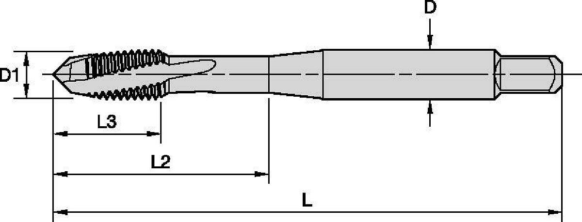Beyond™ Left-Hand Spiral-Flute, Right-Hand Cut HSS-E-PM Taps • Through Holes