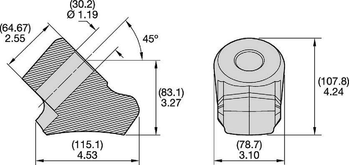 Uchwyty (obsadki) • Seria 30 mm-wzmocnione