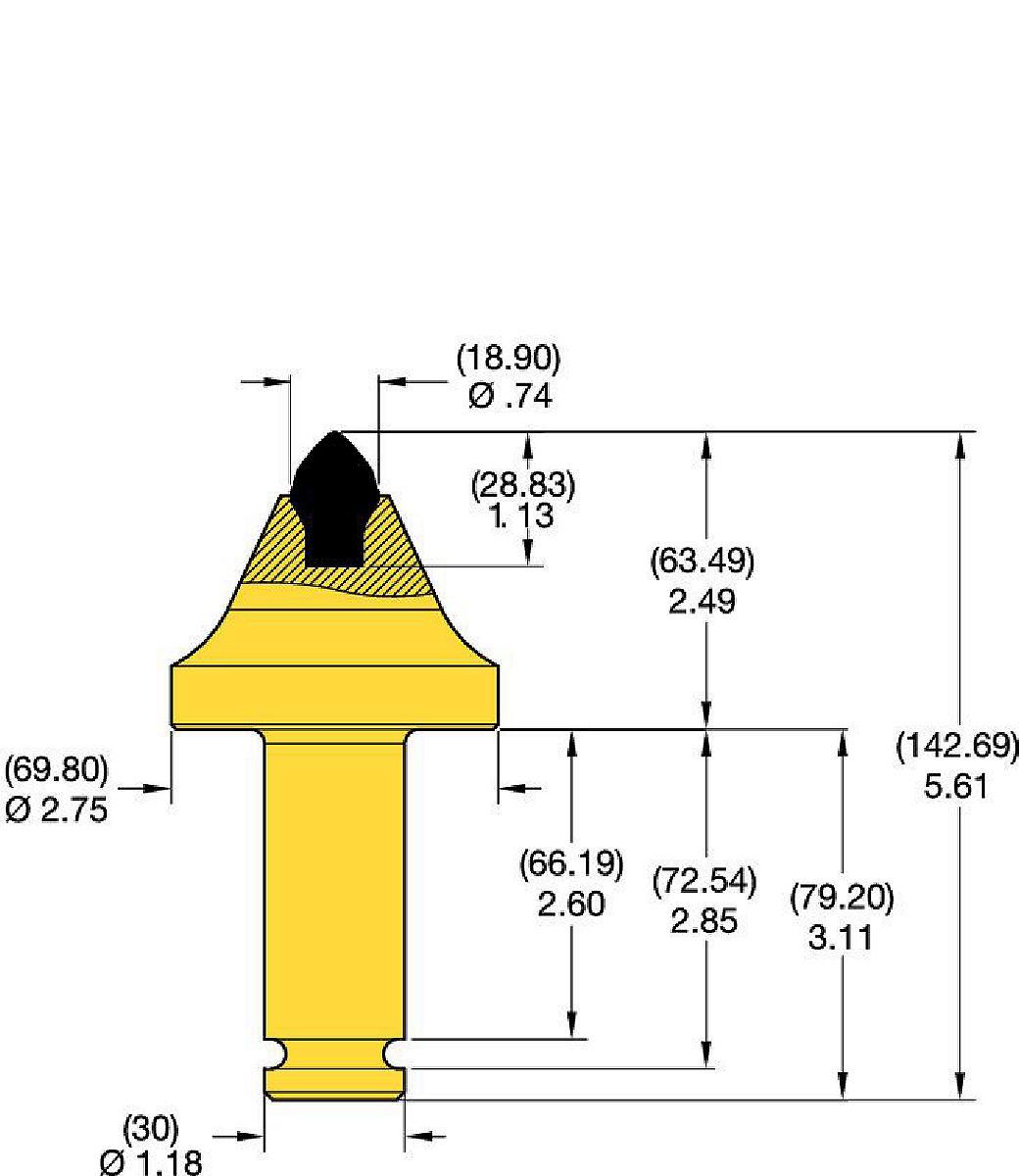 30mm Shank Conicals • KRHA Series 2.5″