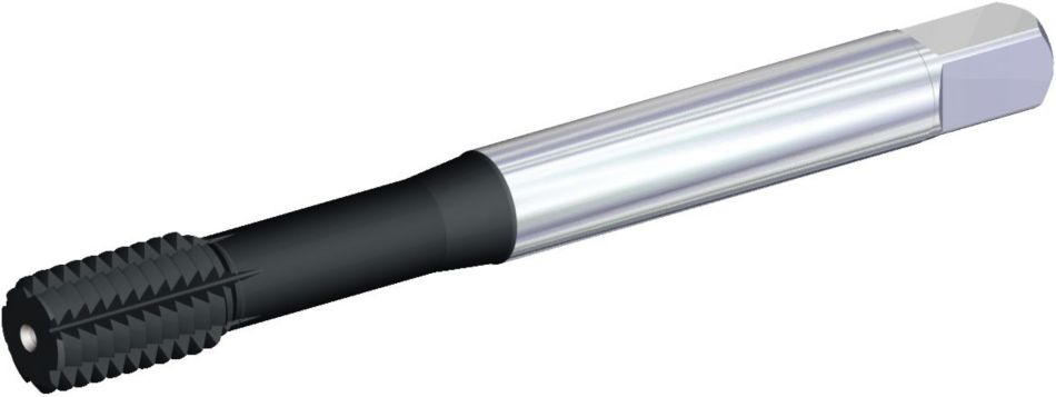 T625 • DIN Length ANSI Shank • Form C Semi-Bottoming Entry Taper • Through Coolant • Metric