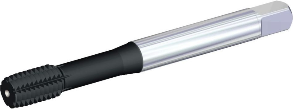 T627 • DIN Length ANSI Shank • Form E Bottoming Entry Taper • Through Coolant • Metric