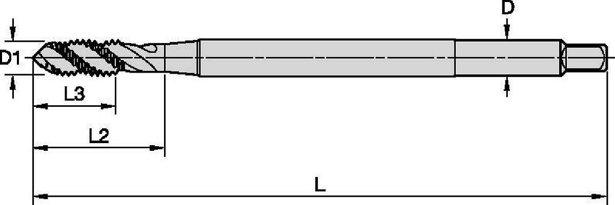 GOtap™ T830 Spiral Flute HSS-E Taps • Blind Holes