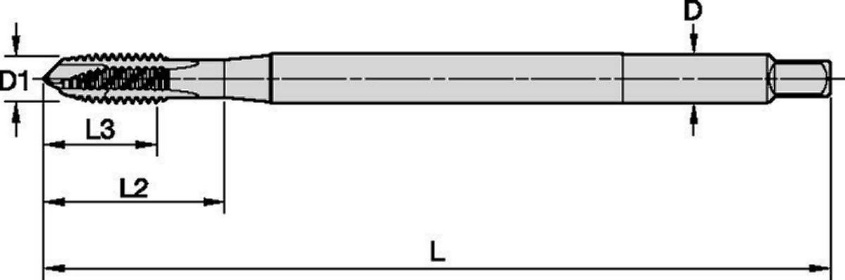 GOtap™ T820 Spiral-Point HSS-E Taps • Through Holes