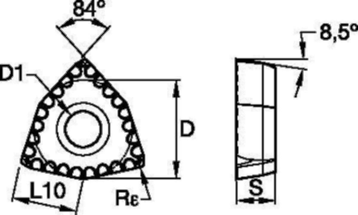 KSEM PLUS™ • Wendeschneidplatten für A1 borhköpfe • DFT™ DS-Geometrie