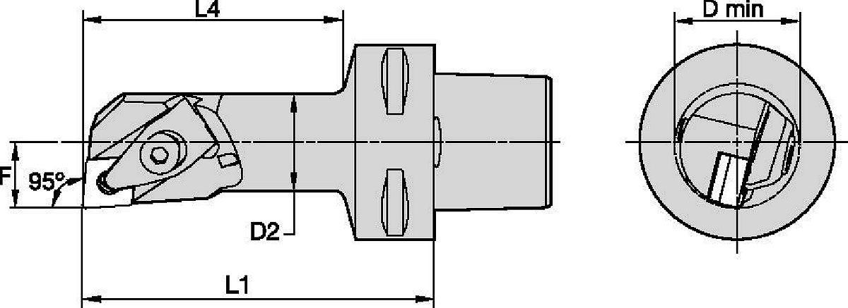 Schneidköpfe zur Innenbearbeitung • D-Klemmung