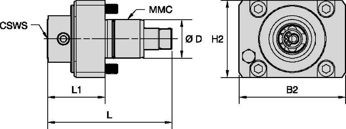 DMG Mori • Driven Tool Axial • KM™ • MMC 001