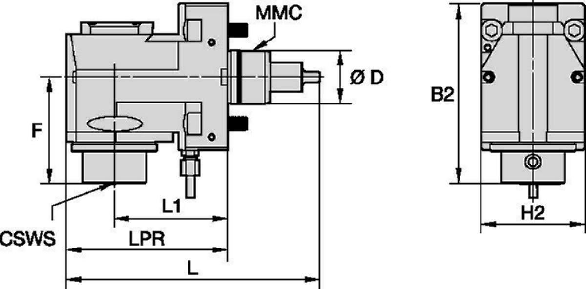 DMG Mori • Driven Tool Radial • KM™ • MMC 001