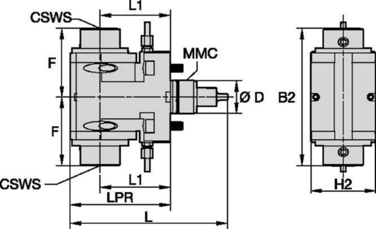 DMG Mori • Herramienta a motor radial • KM™ • MMC 001