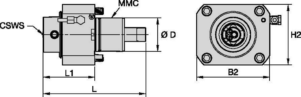 DMG Mori • Angetrieben Axial • KM™ • MMC 002