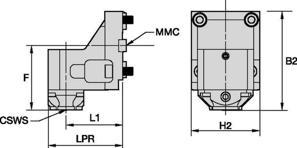 Hyundai WIA • Outil statique radial • KM™ • MMC 035