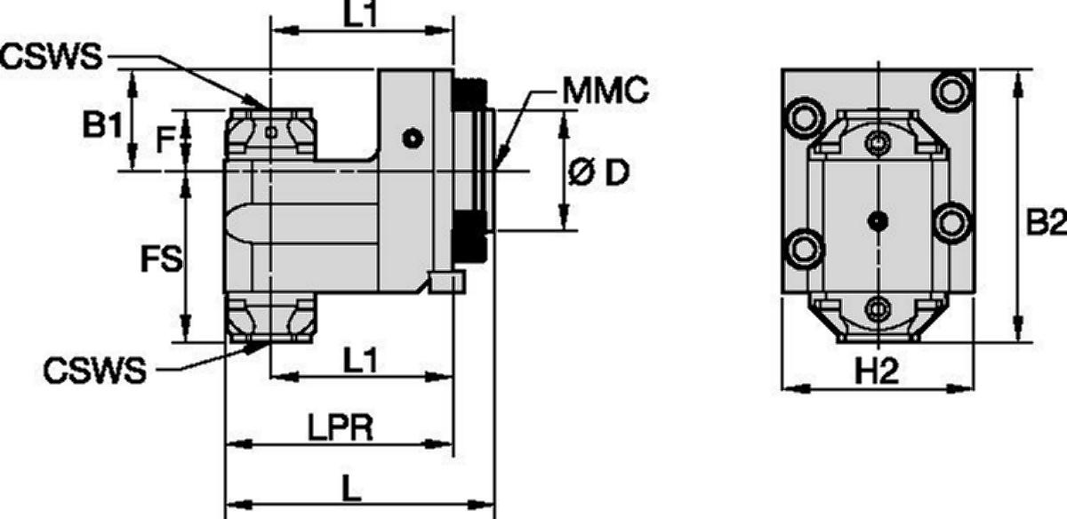 Okuma™ • Herramienta estática radial • KM™ • MMC 009