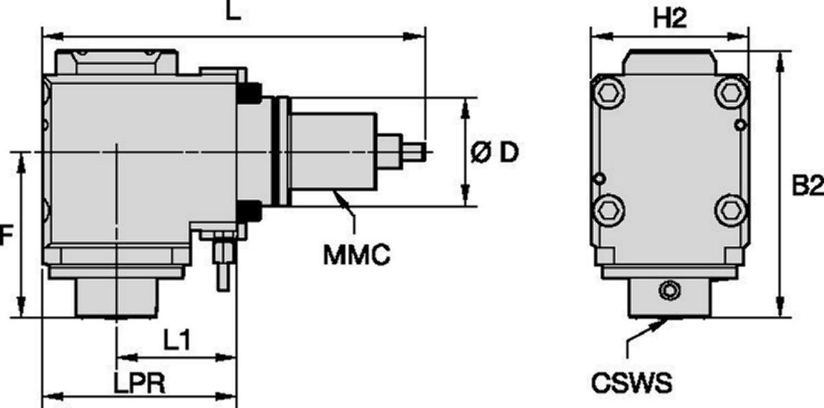Hyundai WIA • Outil avec entraînement radial • KM™ • MMC 036
