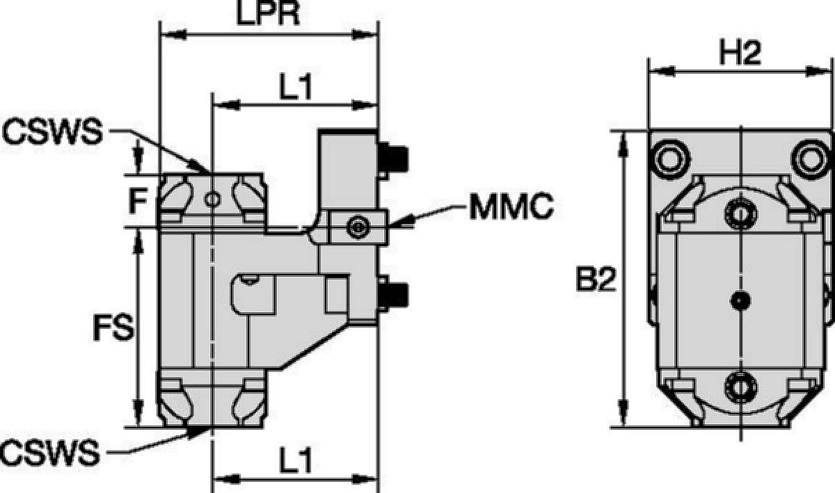 Hyundai WIA • Outil statique radial • KM™ • MMC 036