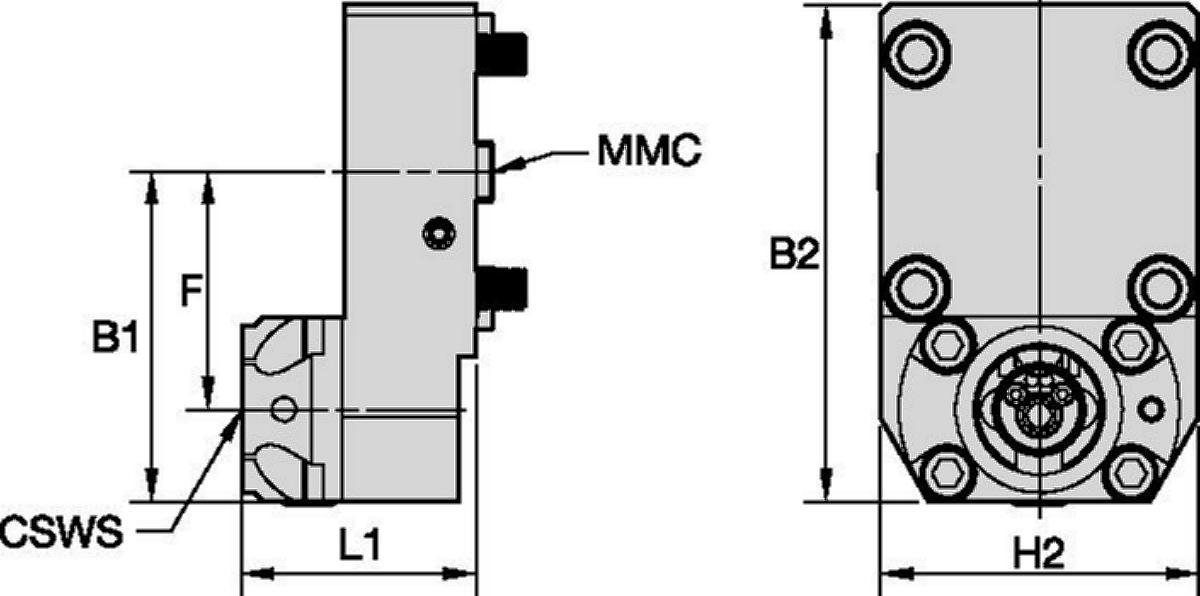 Hyundai WIA • Outil statique axial • KM™ • MMC 036