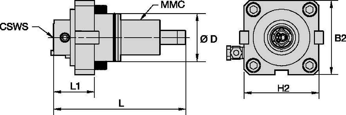 Hyundai WIA • Angetrieben Axial • KM™ • MMC 035