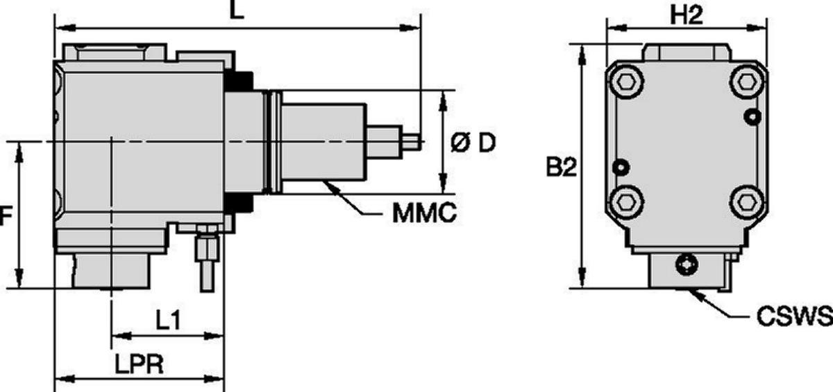 Hyundai WIA • Outil avec entraînement radial • KM™ • MMC 035