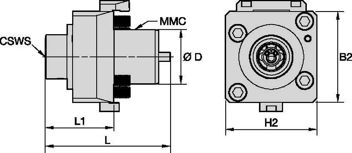 Okuma™ • Herramienta a motor axial • KM™ • MMC 009