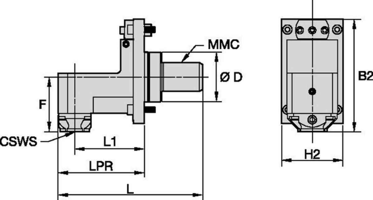 Mazak™ • Herramienta estática radial • KM™ • MMC 020