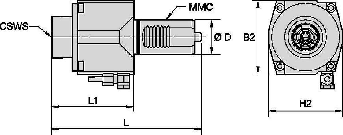 Mazak™ • Angetrieben Axial • KM™ • MMC 017
