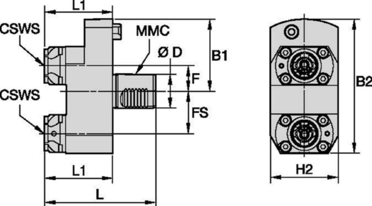Mazak™ • Herramienta estática axial • KM™ • MMC 016
