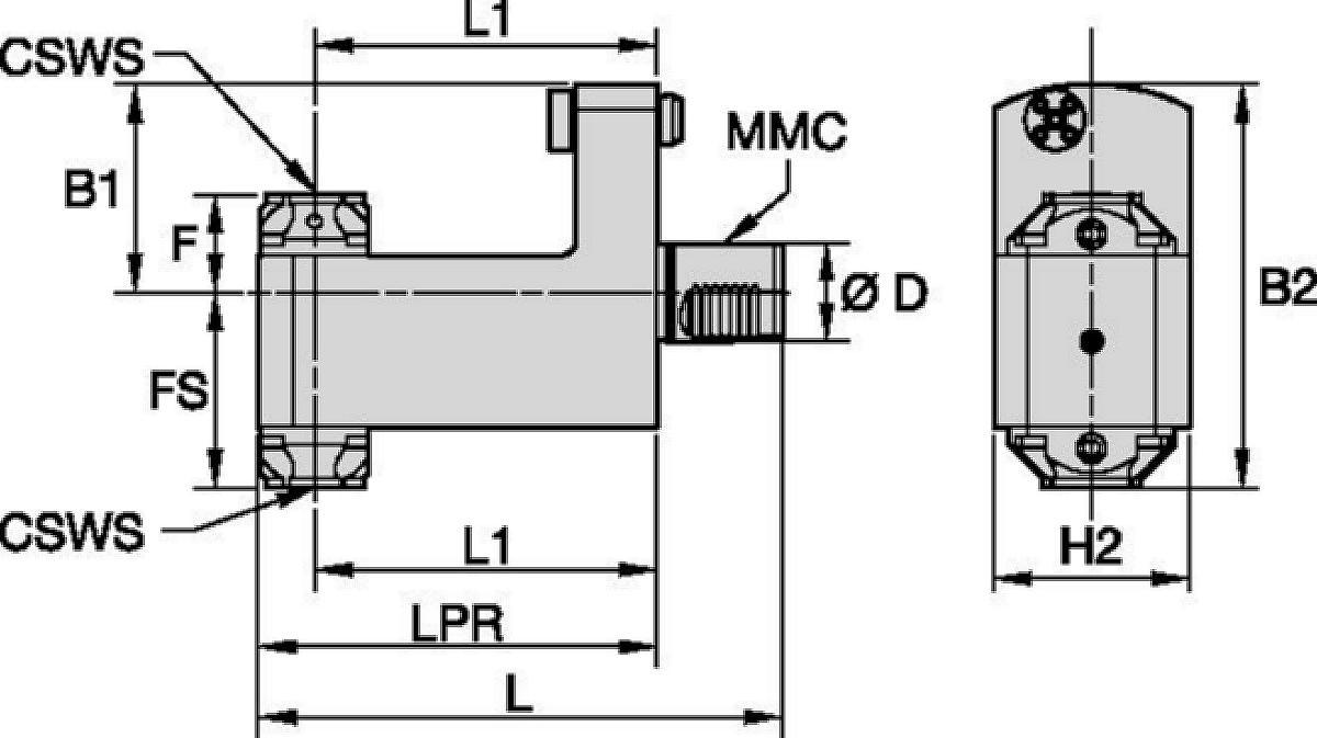Mazak™ • Herramienta estática radial • KM™ • MMC 016