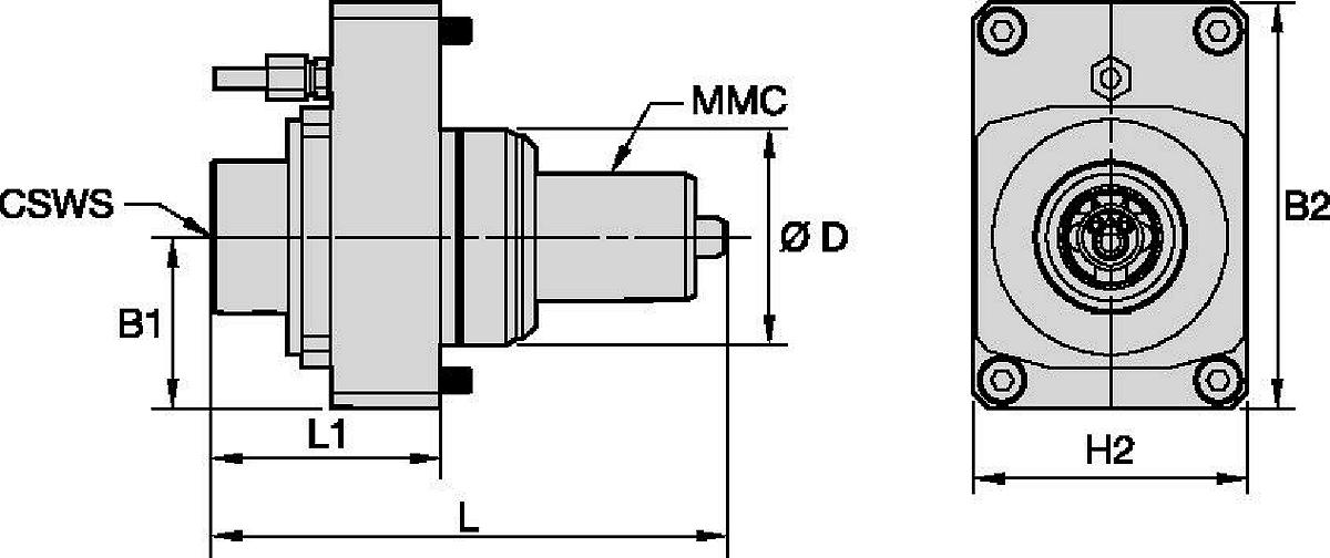 Mazak™ • Angetrieben Axial • KM™ • MMC 020
