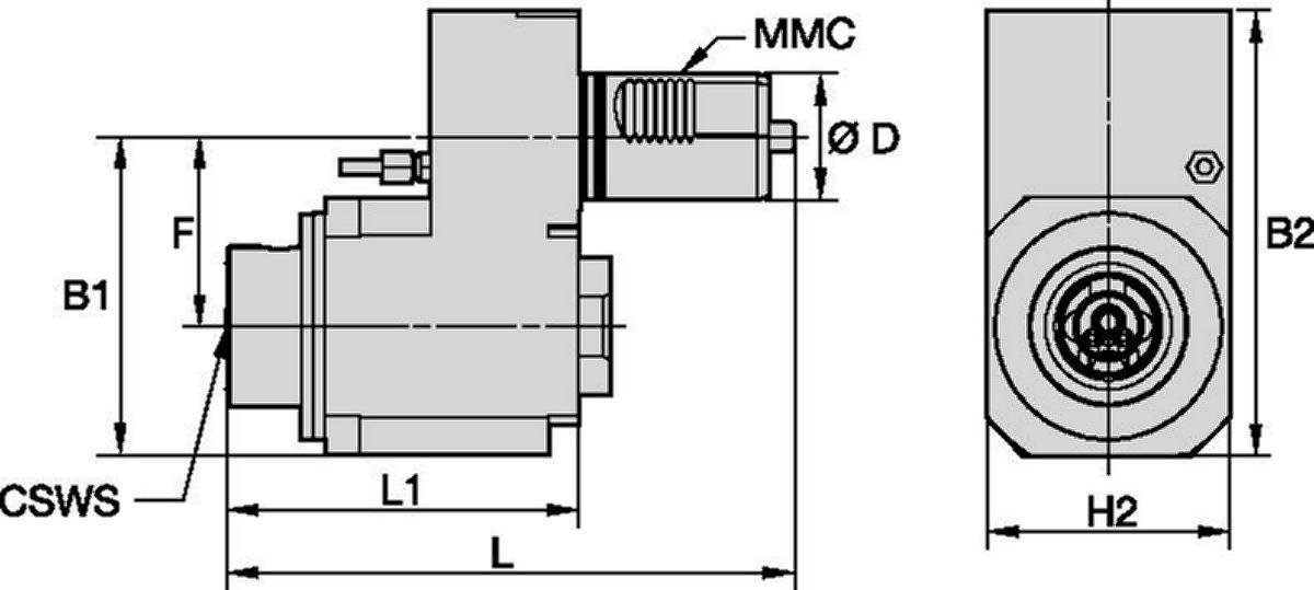 Mazak™ • Angetrieben Axial • KM™ • MMC 019