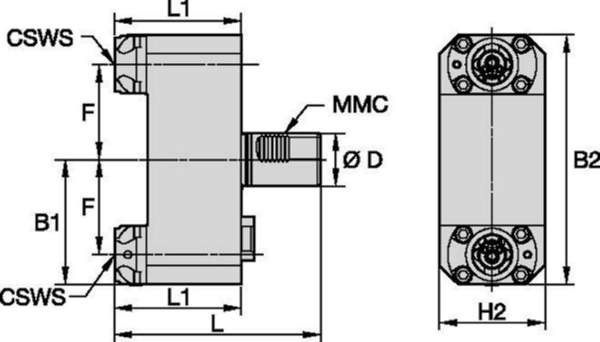 Mazak™ • Statisch Axial • KM™ • MMC 019