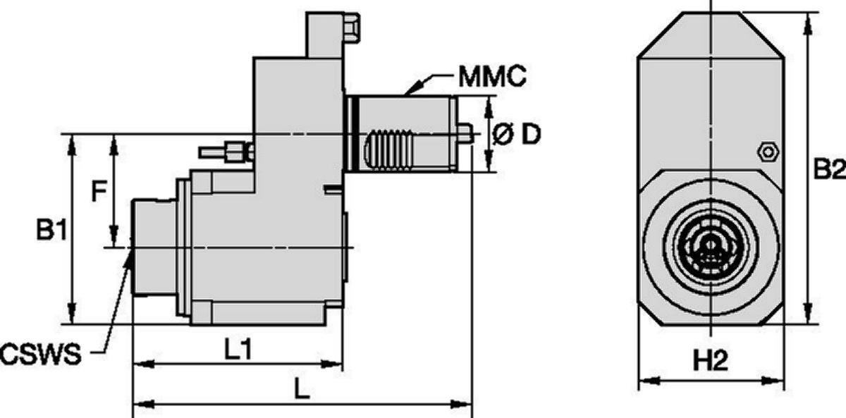 Mazak™ • Driven Tool Axial • KM™ • MMC 018