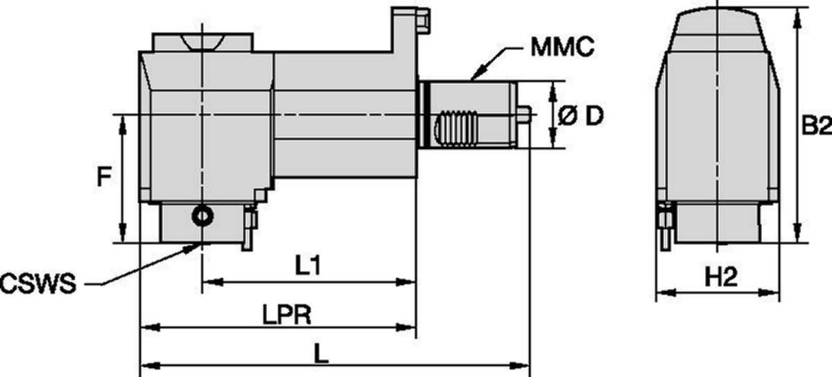 Mazak™ • Herramienta a motor radial • KM™ • MMC 018