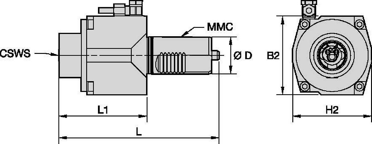 Mazak™ • Angetrieben Axial • KM™ • MMC 016