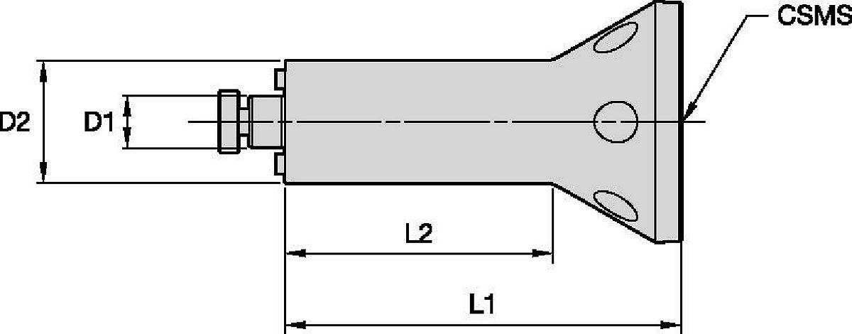 Taper Flange Mount Adapter • Shell Mill Adapter