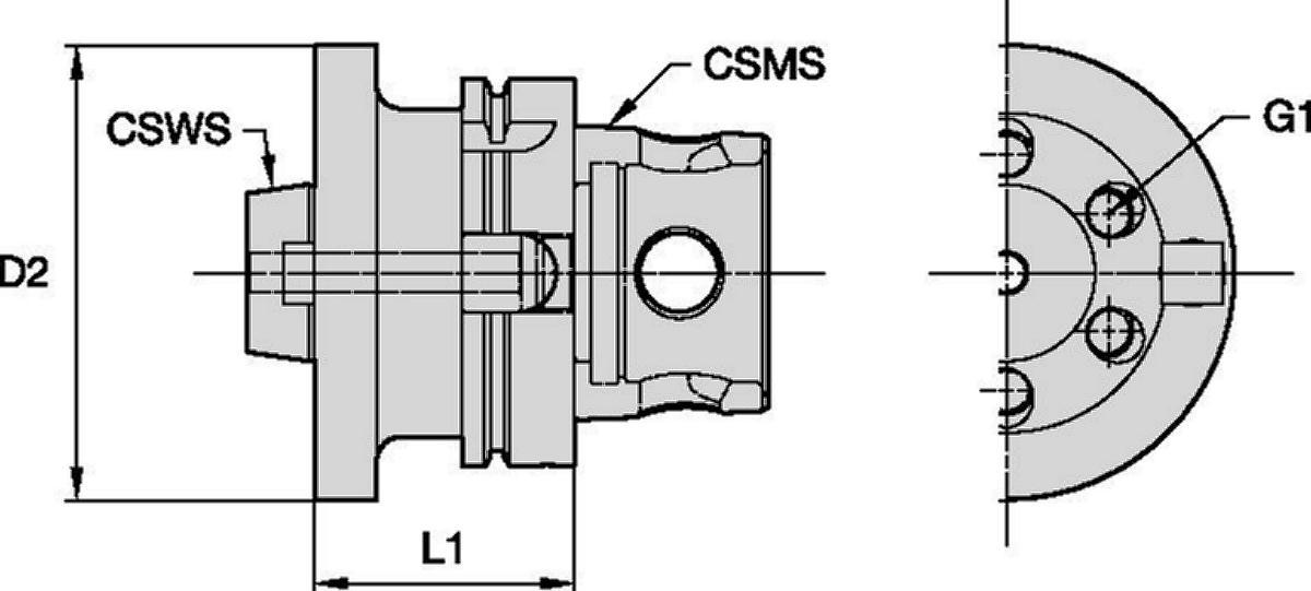 テーパーフランジマウントアダプター • KM4X™