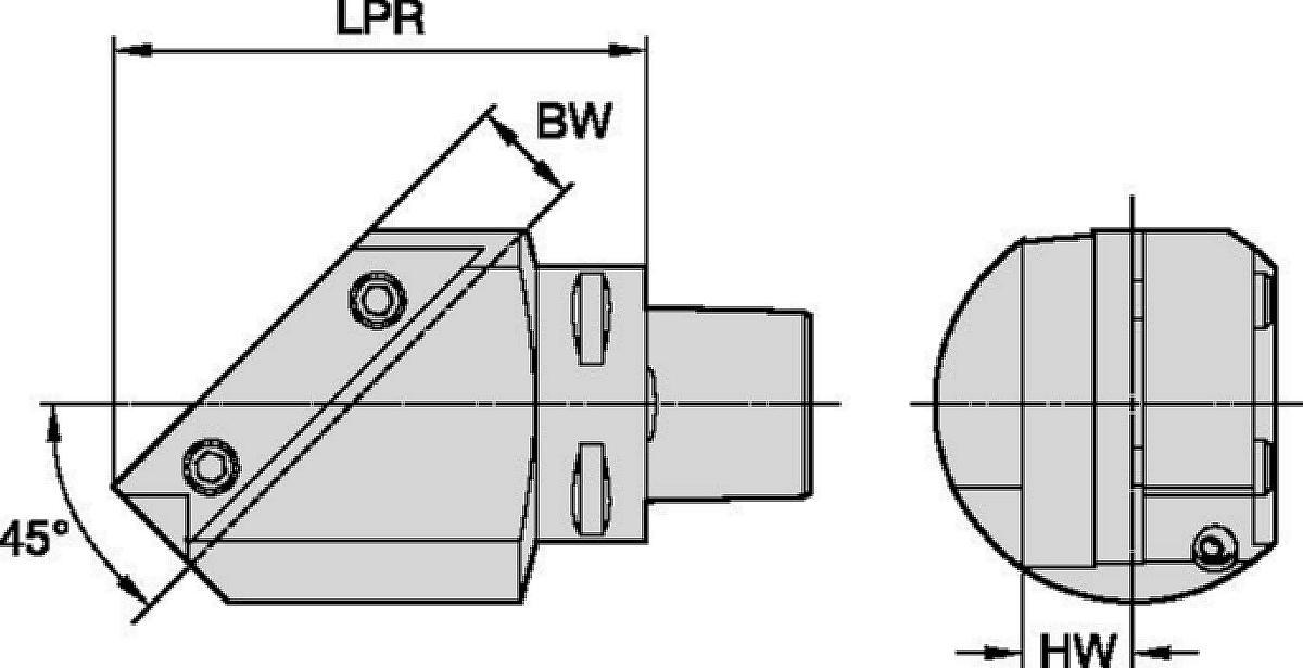 Adaptateurs pour section carrée 45° TA