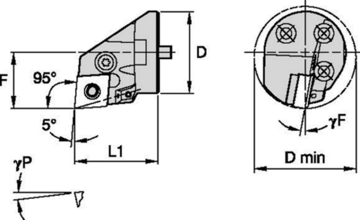 Sin vibraciones • Cabezales con tornillo • Kenlever™ • PCLN 95°