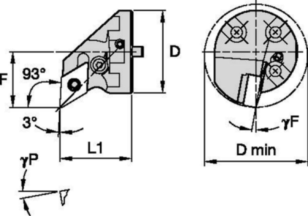 Sin vibraciones • Cabezales con tornillo • Kenlever™ • PDUN 93°
