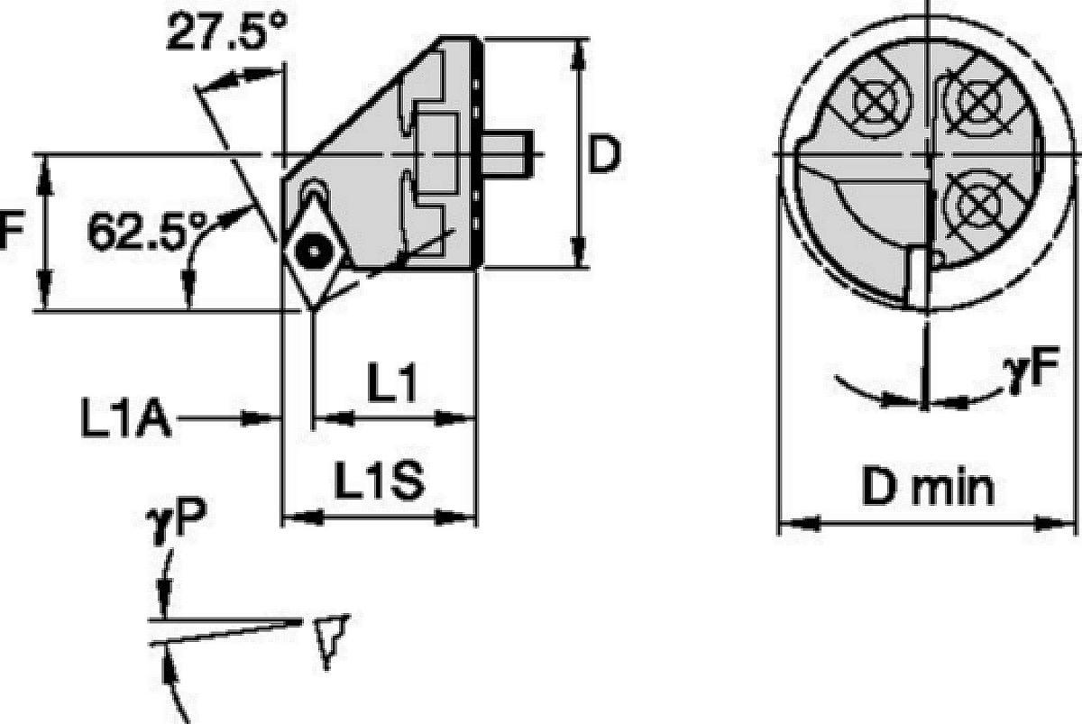 TESTINE INTERCAMBIABILI • Screw-On • SDPC 62.5°