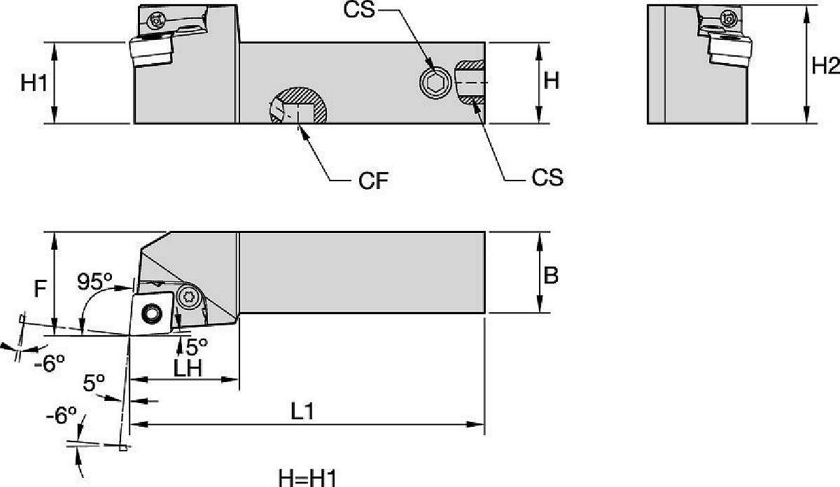 Kenlever™ • Wewnętrzne doprowadzanie chłodziwa • PCLN 95°