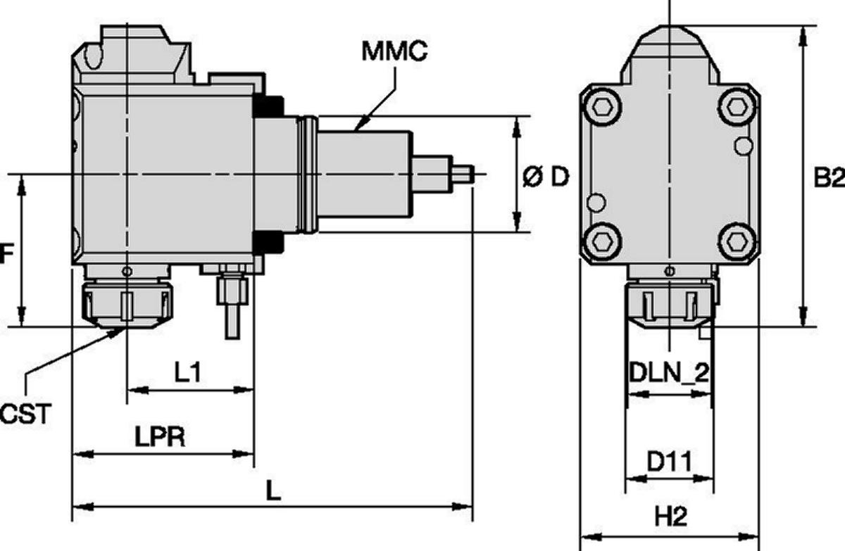 Doosan™ • Outil avec entraînement radial • ER™ • MMC 035