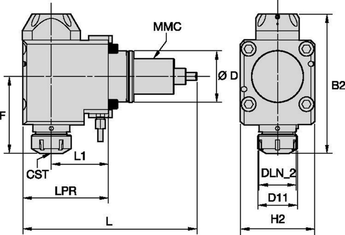 Doosan™ • Driven Tool Radial • ER™ • MMC 036