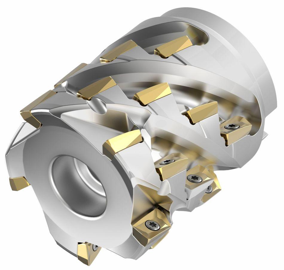 Mill 1-10™ 螺齿立铣刀 • 套式接口